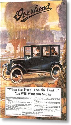 1920s Usa Overland Cars Metal Print by The Advertising Archives