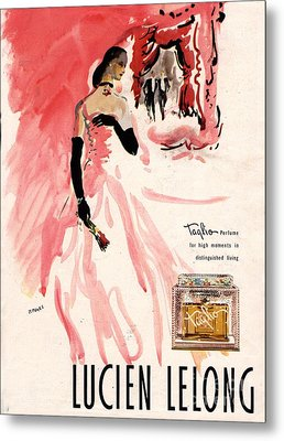 1940s Usa Lucien Lelong   Theatre Metal Print by The Advertising Archives