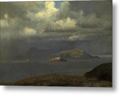 Alcatraz San Francisco Bay Metal Print by Albert Bierstadt