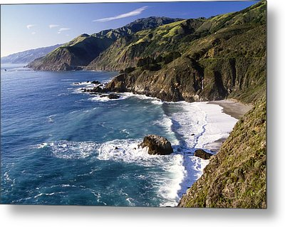 Big Sur At Big Creek Metal Print by George Oze