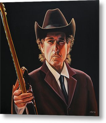 Bob Dylan Painting 2 Metal Print by Paul Meijering