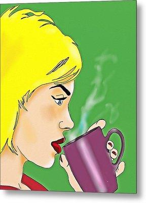 Coffee Break Metal Print by Helen Bowman