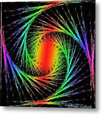 Colorful Fractals Metal Print by Mikki Cucuzzo