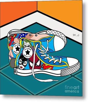 Comics Shoes Metal Print by Mark Ashkenazi