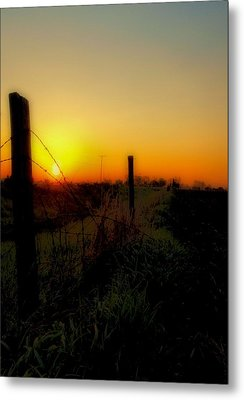 Country Sunrise Metal Print by Tom Druin