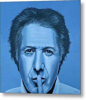 Dustin Hoffman Painting Metal Print by Paul Meijering
