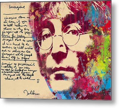 -imagine-john Lennon Metal Print by Vitaliy Shcherbak