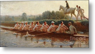 In The Golden Days Metal Print by Hugh Goldwin Riviere