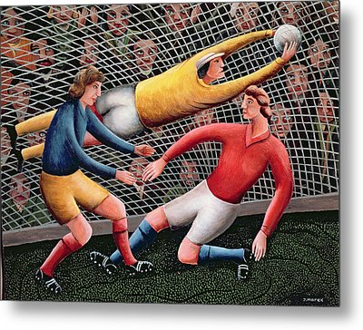 It's A Great Save Metal Print by Jerzy Marek