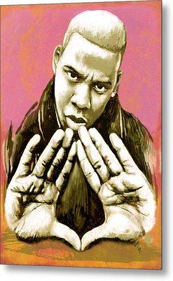 Jay-z Art Sketch Poster Metal Print by Kim Wang
