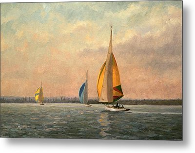 Late Finish Metal Print by Vic Trevett