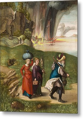 Lot And His Daughters Metal Print by Albrecht Durer