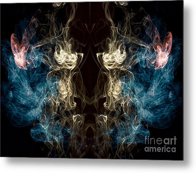Minotaur Smoke Abstract Metal Print by Edward Fielding