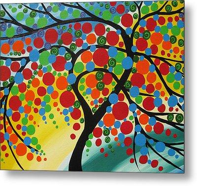 Orb Tree  Metal Print by Cathy Jacobs