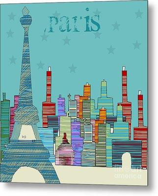 Paris Blues Metal Print by Bri B