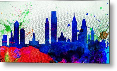 Philadelphia City Skyline Metal Print by Naxart Studio
