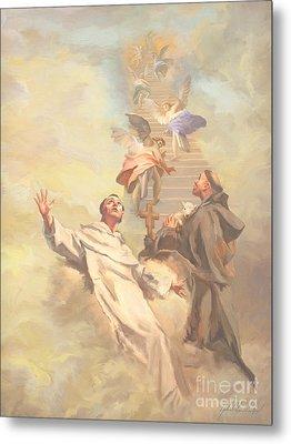 Saint Benedict And Saint Francis Of Assisi Metal Print by John Alan  Warford