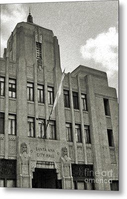 Santa Ana City Hall Building - 02 Metal Print by Gregory Dyer