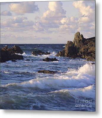 Seascape. Rocks. Normandy. France. Europe Metal Print by Bernard Jaubert
