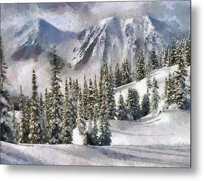 Snow In The Mountains Metal Print by Georgi Dimitrov