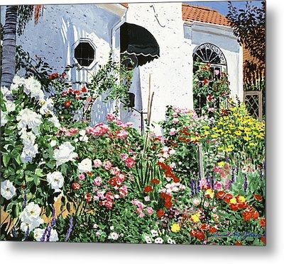 Summer Garden Flowers Metal Print by David Lloyd Glover