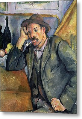 The Smoker Metal Print by Paul Cezanne