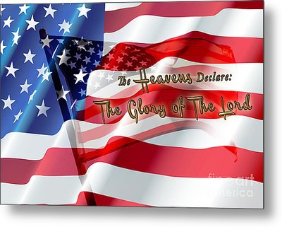 The Stars And Stripes Metal Print by Beverly Guilliams
