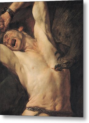 The Torture Of Prometheus Metal Print by Giovacchino Assereto