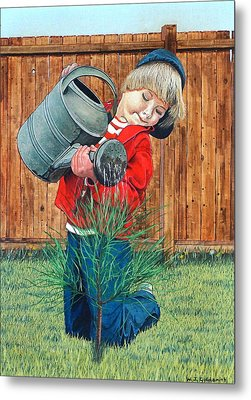 The Young Arborist Metal Print by William Goldsmith