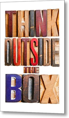 Think Outside The Box Metal Print by Donald  Erickson