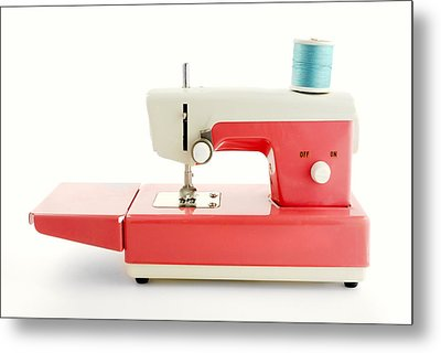 Toy Sewing Machine Metal Print by Jim Hughes