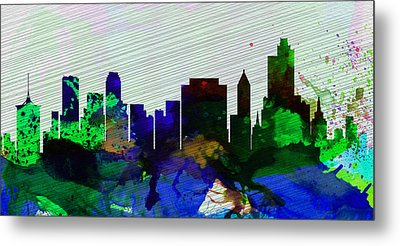 Tulsa City Skyline Metal Print by Naxart Studio