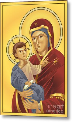 Virgin Mary And Jesus Christ Metal Print by Christos Georghiou
