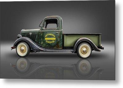 1935 Ford Pickup - Moonshine Express Metal Print by Frank J Benz