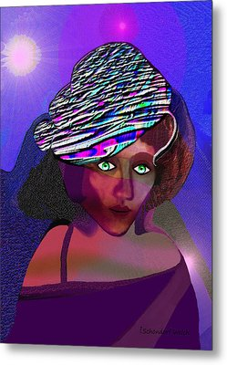 049 - She Came At Midnight  Metal Print by Irmgard Schoendorf Welch