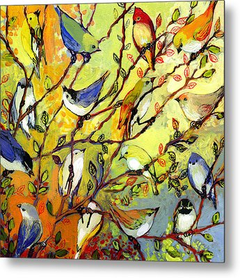 16 Birds Metal Print by Jennifer Lommers