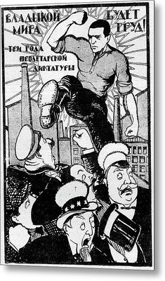 1920s Soviet Propaganda Poster Metal Print by Cci Archives
