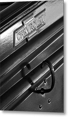 1937 Chevrolet Custom Pickup Emblem Metal Print by Jill Reger