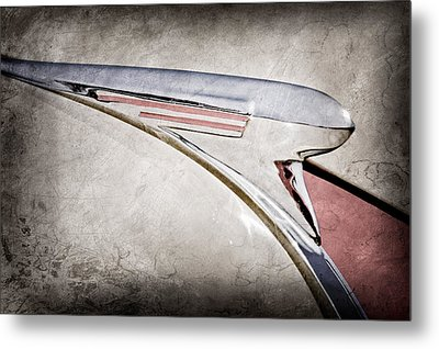 1940 Chevrolet Pickup Hood Ornament Metal Print by Jill Reger