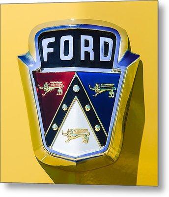 1950 Ford Custom Deluxe Station Wagon Emblem Metal Print by Jill Reger