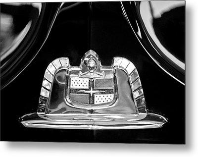 1950 Lincoln Cosmopolitan Limousine Emblem Metal Print by Jill Reger