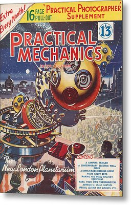 1950s Uk Practical Mechanics Magazine Metal Print by The Advertising Archives