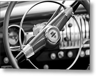 1951 Chevrolet Convertible Steering Wheel Metal Print by Jill Reger