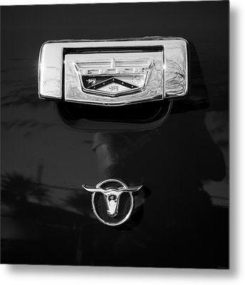 1957 Ford Custom 300 Series Ranchero Emblem Metal Print by Jill Reger