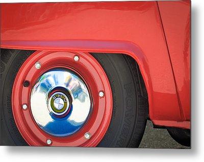 1958 Bmw Isetta 300 Wheel Emblem Metal Print by Jill Reger