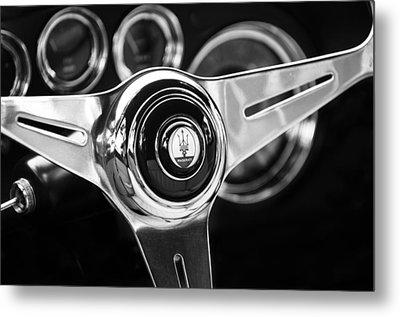 1958 Maserati Steering Wheel Emblem Metal Print by Jill Reger