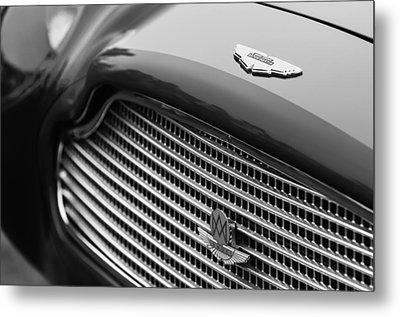 1960 Aston Martin Db4 Gt Coupe' Grille Emblem Metal Print by Jill Reger