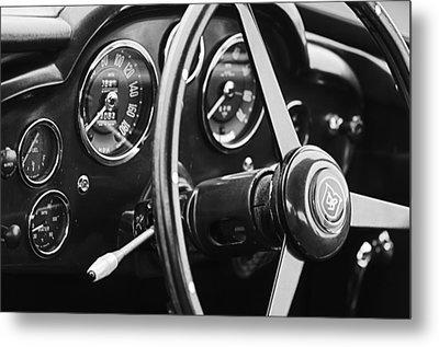 1960 Aston Martin Db4 Gt Coupe' Steering Wheel Emblem Metal Print by Jill Reger
