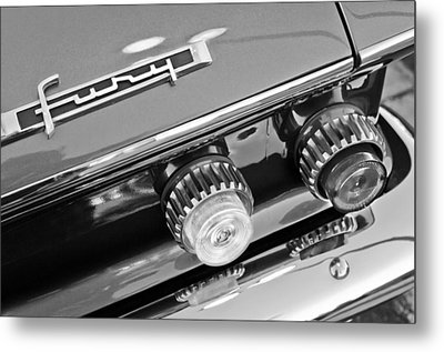 1962 Plymouth Fury Taillights And Emblem Metal Print by Jill Reger