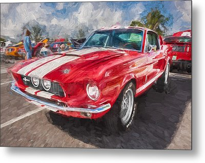 1967 Ford Shelby Mustang Gt500 Painted  Metal Print by Rich Franco